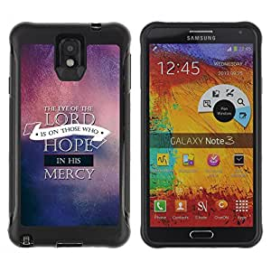 iDesign Rugged Armor Slim Protection Case Cover - THE EYE OF THE LORD - Samsung Note 3