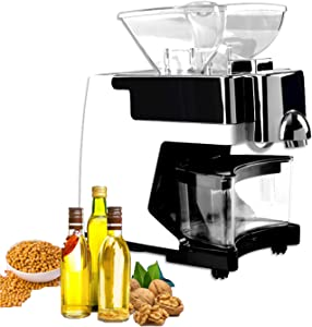 FREEDOH 530 W Oil Press Machine Automatic Home Hot/Cold Oil Press Grade Stainless Steel Oil Expeller with Smart Control+ Voice Prompts for Avocado Peanut Canola