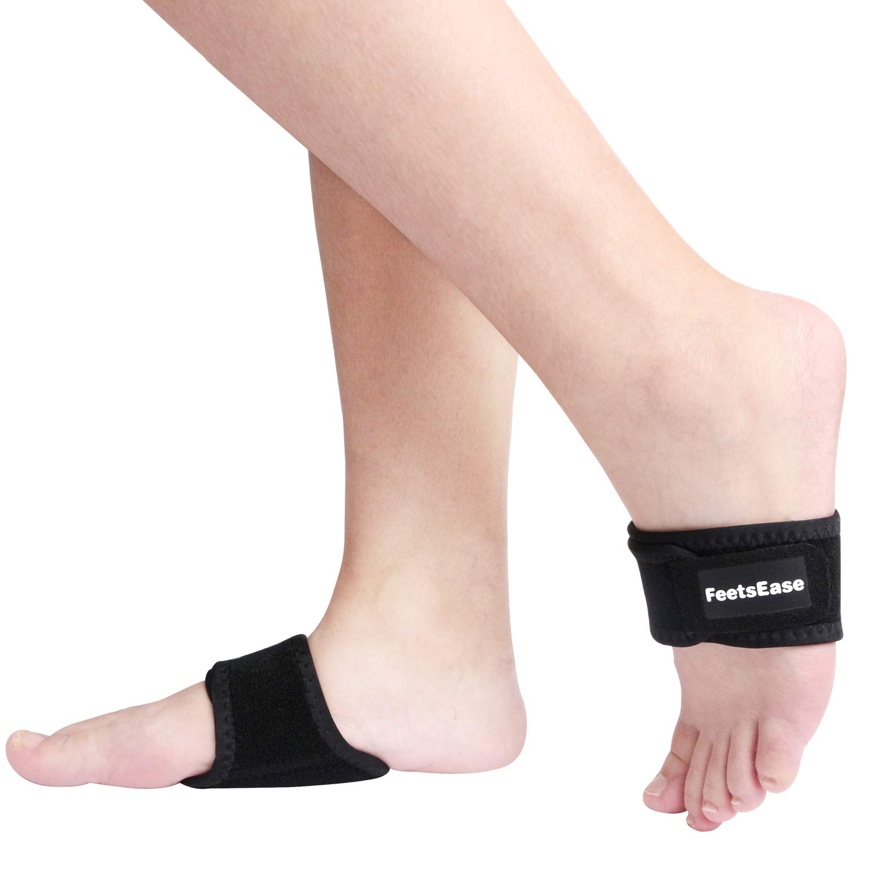 FeetsEase Arch Support Brace Sleeves for High Arch, Flat Feet, Fallen Arch, Plantar Fasciitis, Arch Cushion for Men & Women by FeetsEase