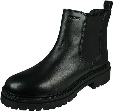 falda Compasión granizo  Amazon.com | Geox Womens Adult IRIDEA 2 Black Ankle Boots | Oxfords