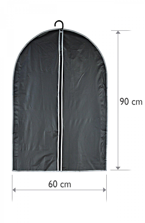 Kleidersäcke 60 60 60 x 90 cm (2St. 1Set) Schwarz - 20 Stück B076NNC6DF Kleiderscke 2f0d07