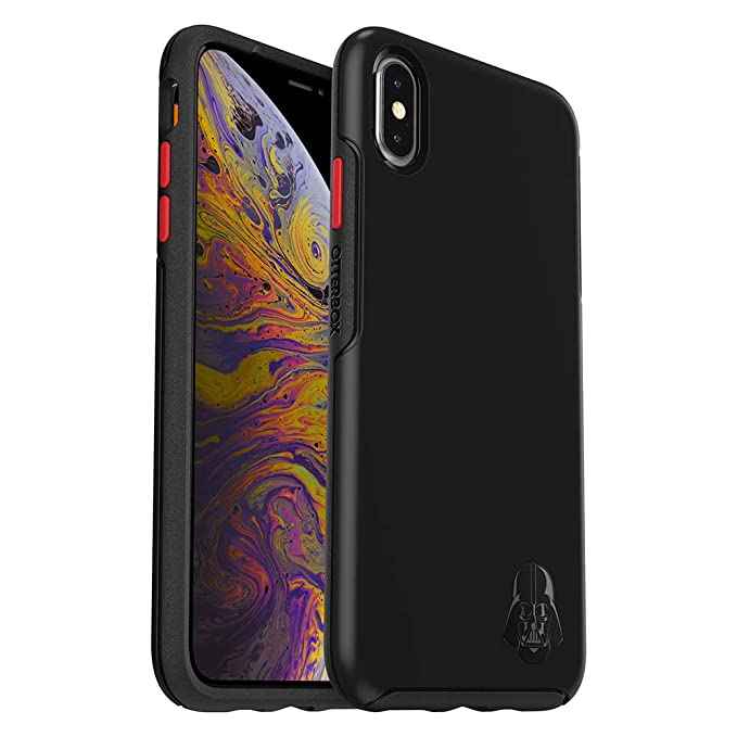 new products 6e08a 59e89 OtterBox Symmetry Series Disney Galactic Collection Case for iPhone Xs Max  - Retail Packaging - Darth Vader Emblem (Black/Black/Scarlet/Darth V Head  ...