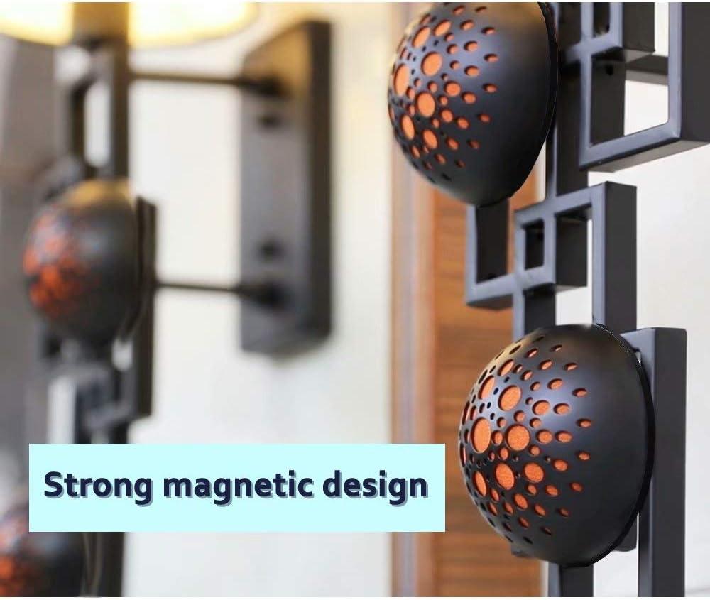 Mini Magnetic Speaker Suitable for Travel Rich Bass Camping Crystal Clear Sound Orange JEMEX Portable Bluetooth Speaker Dual Wireless Stereo Speaker Louder Volume