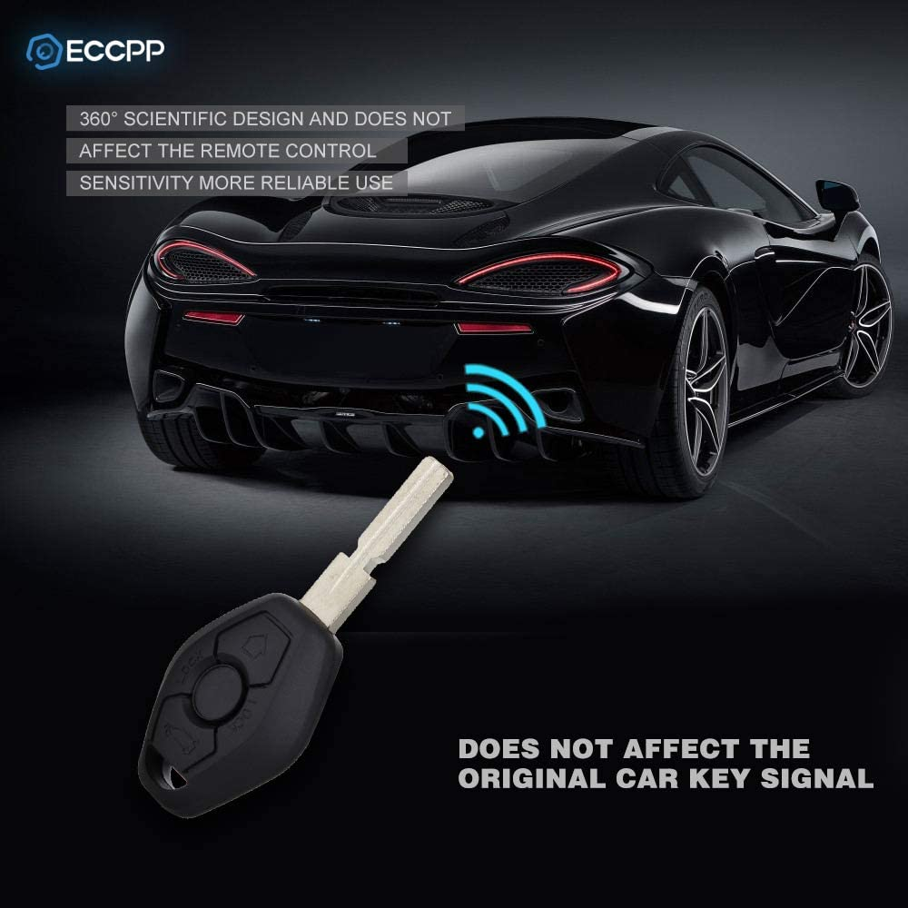 ECCPP 3 Buttons Key Fob Uncut Keyless Entry Remote Key Car Fob Replacement for 96-07 BMW 318i 528i 328is 6955750 2X