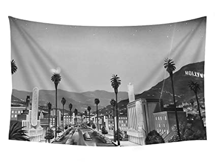 Amazon.com: PUPBEAMO PRINTS The Old Hollywood - Wall Tapestry Art ...