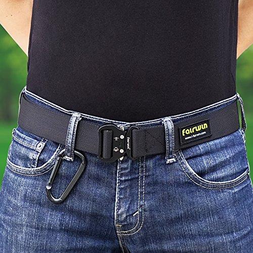 Fairwin Heavy Duty EDC Tactical Belt Double Layer Nylon Belt with