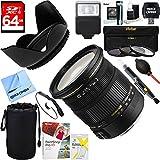 Sigma (583101) 17-50mm f/2.8 EX DC OS HSM FLD Standard Zoom Lens for Canon DSLR Camera + 64GB Ultimate Filter & Flash Photography Bundle