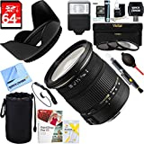 Sigma (583101) 17-50mm f/2.8 EX DC OS HSM FLD Standard Zoom Lens for Canon DSLR Camera + 64GB Ultimate Filter & Flash Photography Bundle