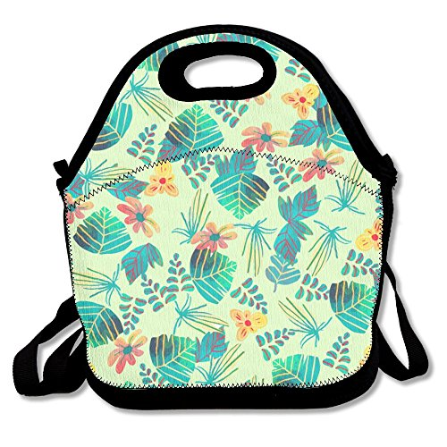 HYEECR Beautiful Flowers Portable Lunch Tote Bags, Takeaway Lunch Box, Outdoor Travel Fashionable Handbag For Men Women Kids (Adult Freddy Vinyl Mask)