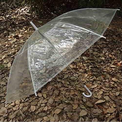dca4d75fd TYHJF Hot Fashion Portable Transparent Clear Rain Umbrella Parasol PVC Dome  Wedding Party Favor