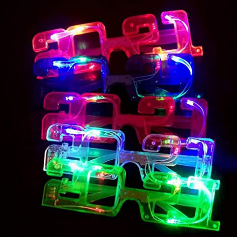 2021 New Year LED Light Up Sunglass Eyeglasses Glow in Dark for Rave Club Party