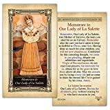 Memorare to Our Lady of La Salette Laminated Holy Card - Pack of 3