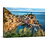 Scott Stulberg Premium Thick-Wrap Canvas Wall Art Print entitled Vernazza in the Cinque Terre at sunset
