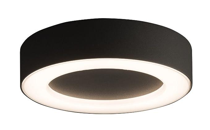 Lámpara LED de techo exterior gris oscuro aluminio 3000 K ...