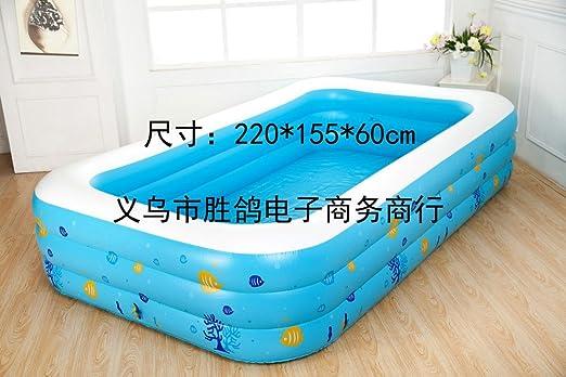 tlue tathtub grande familia niños portátil externo piscina ...