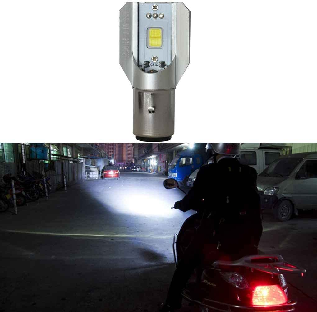 KATUR Motorcycle BA20D H6 Hi//Lo Fascio LED Lampadine per fari LED Super Luminoso CSP aggiornato Kit di conversione Tutto in Uno 1750 LM 18W 6500K Xenon White