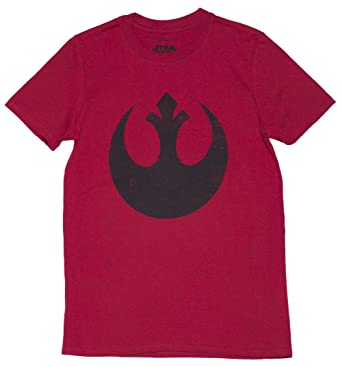 23949940745 Mens Red Star Wars Rebel Alliance Logo T Shirt  Amazon.co.uk  Clothing
