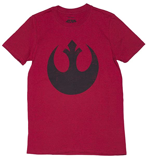 40a61bb6bcce5 Amazon.com: Mens Red Star Wars Rebel Alliance Logo T Shirt: Clothing