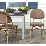 Safavieh FOX5203A-SET2 Home Collection Barrow Indoor/Outdoor Stacking Side Chair, Set of 2, Brown Review