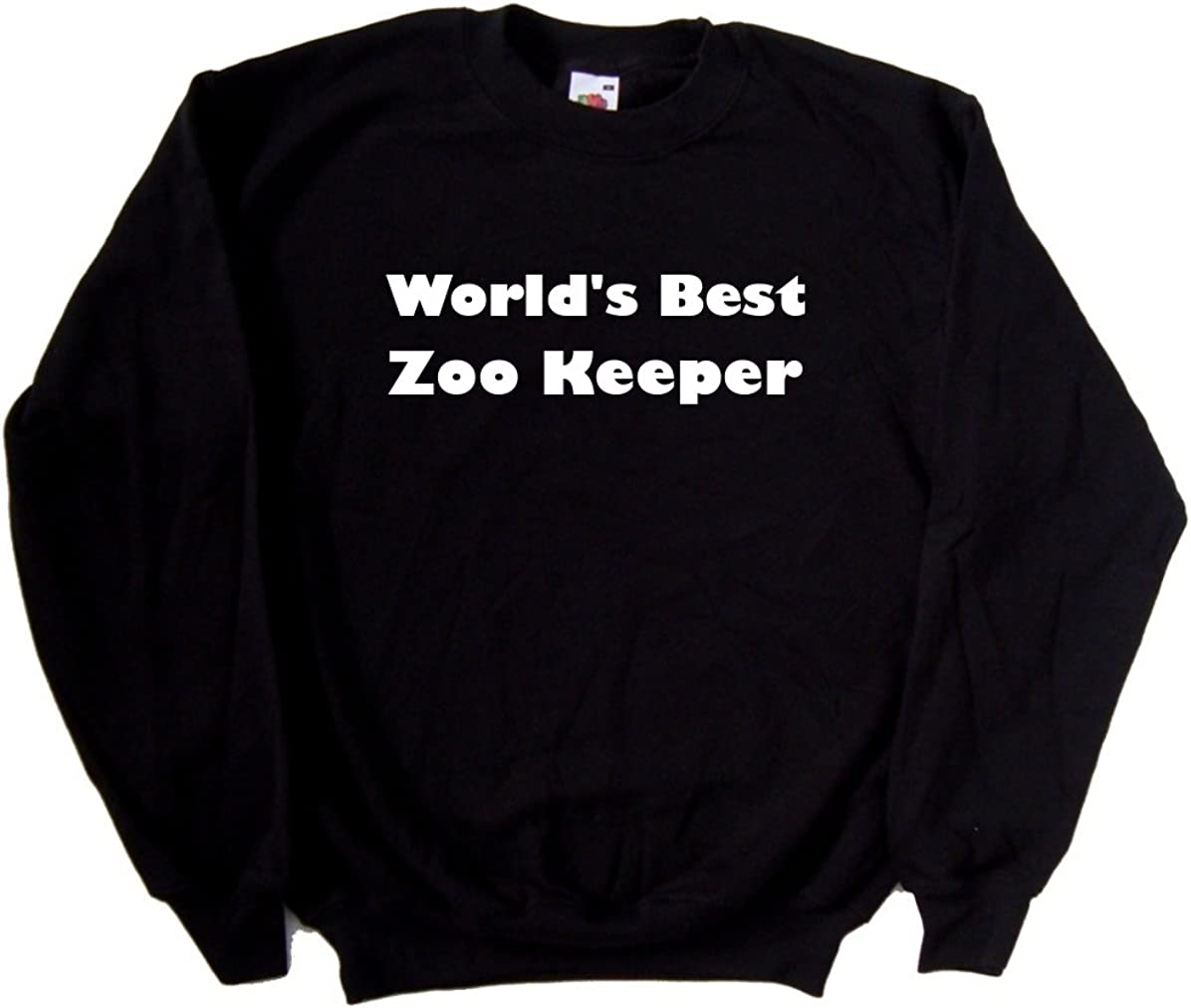 Worlds Best Zoo Keeper Black Sweatshirt