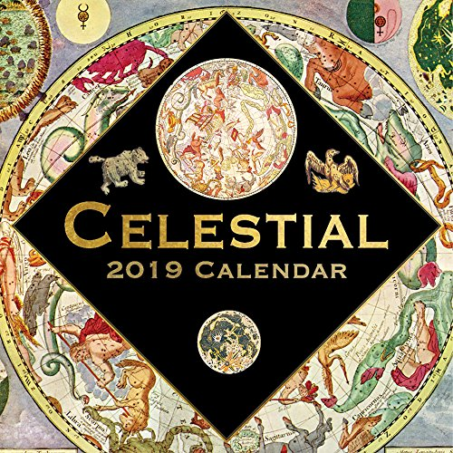 - 2019 Wall Calendar - Celestial Calendar, 12 x 12 Inch Monthly View, 16-Month, Includes 180 Reminder Stickers