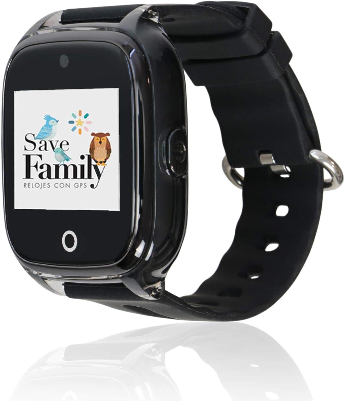 Reloj con GPS para niños Save Family Modelo Superior Acuático con Cámara. Smartwatch con botón SOS, Permite Llamadas y Mensajes. Resistente al Agua Ip67. App Propia SaveFamily. Incluye Cargador