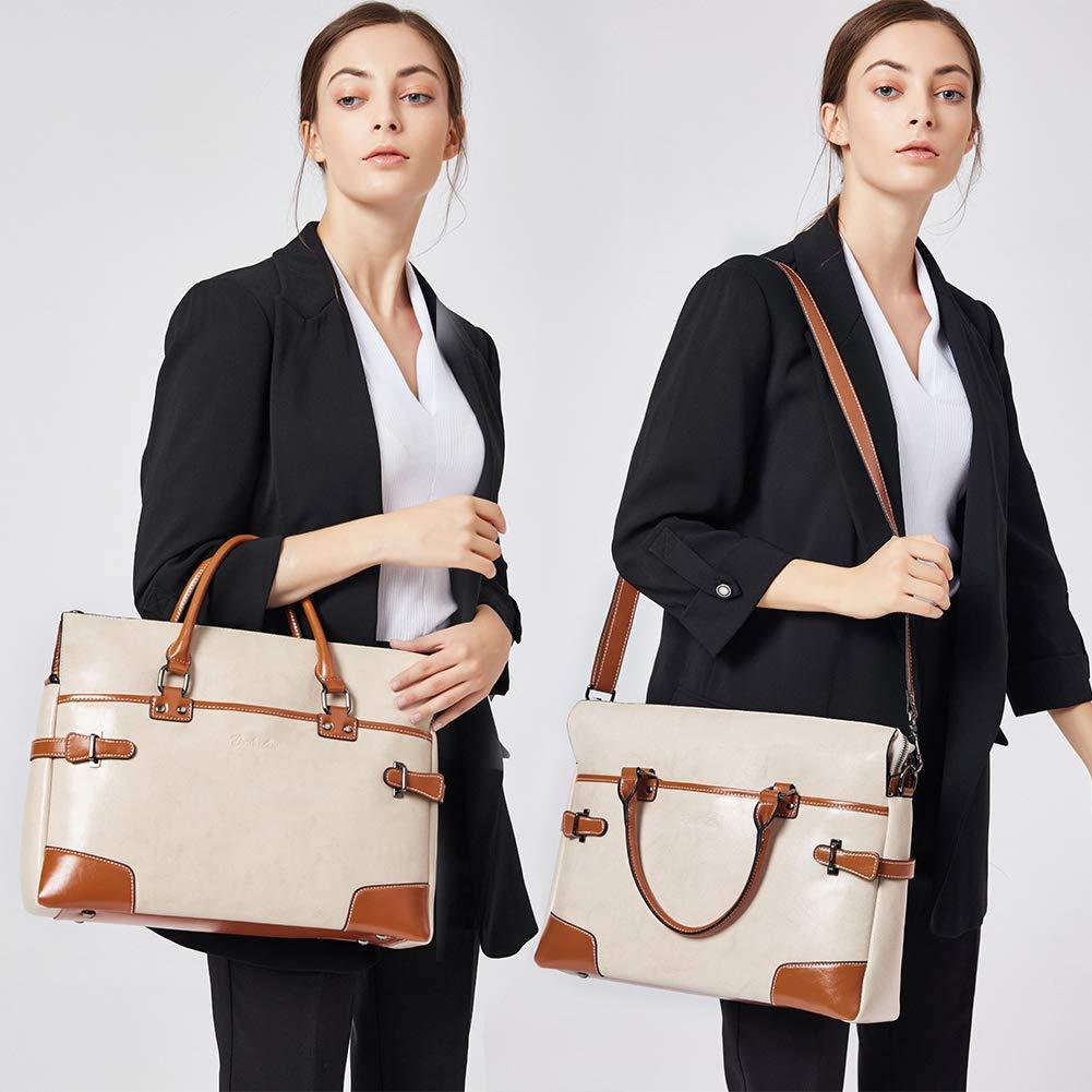 BOSTANTEN Leather Briefcase Messenger Satchel Bags Laptop Handbags for Women by BOSTANTEN (Image #7)
