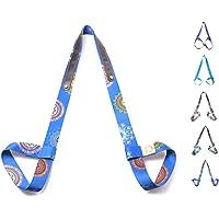 Yoga Mattengordel, verstelbaar, duurzame katoenen yogabroek, blauw-violet