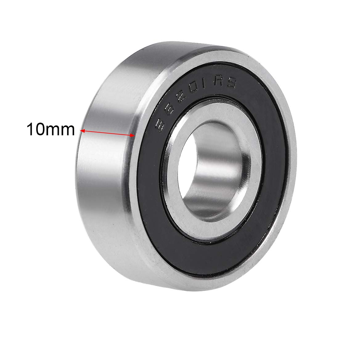uxcell S688-2RS Stainless Steel Ball Bearing 8x16x5mm Sealed 688-2RS Bearings 2pcs