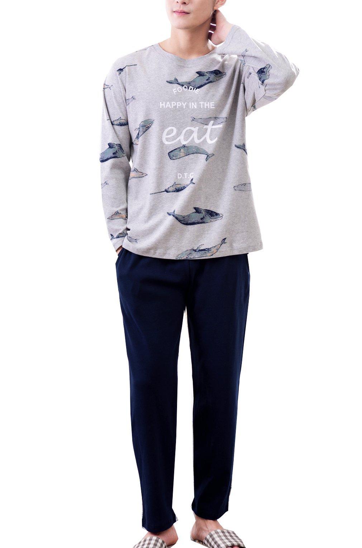 2018 New Big Boys Winter Spring Long Sleeve Cotton Pajama Sleepwear(10y-18y)