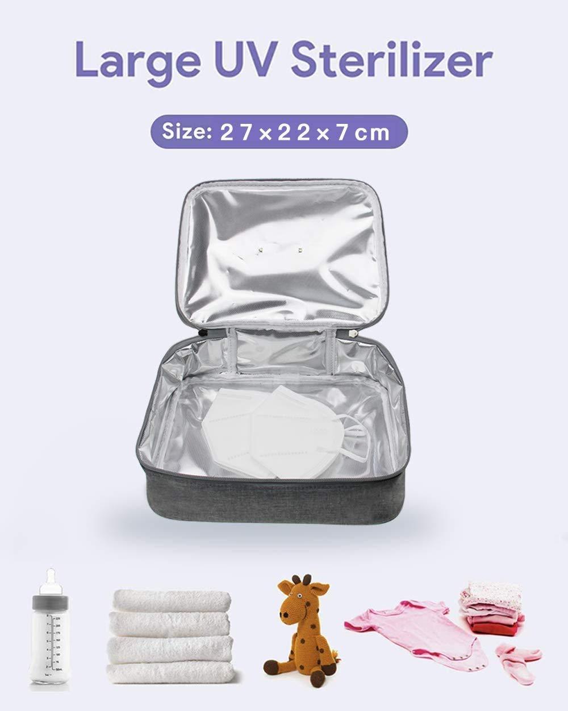 Tel/éfono gafas Llaves Cepillo TGB Bolsa de Esterilizaci/ón UV Esterilizador con LEDs Ultravioleta R/ápida Desinfecci/ón 99.9/% G/érmenes Y Virus con Ozono para Desinfectar Mascarillas Tablet
