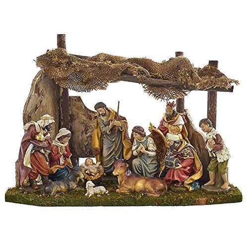 Kurt Adler Nativity Set with 11 Figures and Stable by Kurt Adler