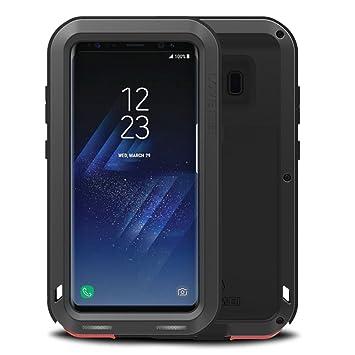 Samsung Galaxy S8 Funda : Fonrest Love mei Poderosa armadura del metal de aluminio a prueba de golpes Snowproof Cubierta Carcasa Hermética al polvo ...