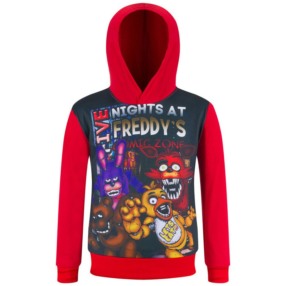 Boys Kids Five Nights at Freddy's Thin Hoodie Sweatshirt