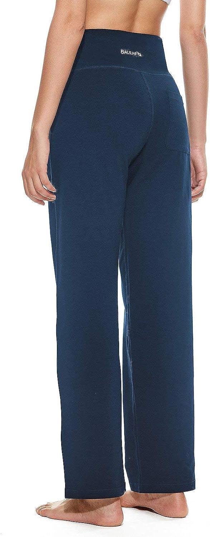 BALEAF Womens 30//32//34 Straight Leg Yoga Pants Sweatpants Workout Lounge Back Pocket
