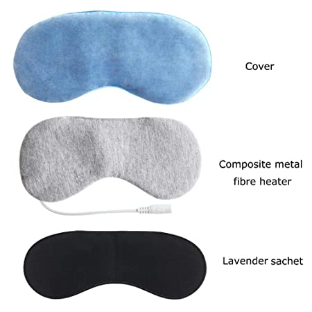 Amazon.com: Aroma Season Máscara con calefacción, seda y ...