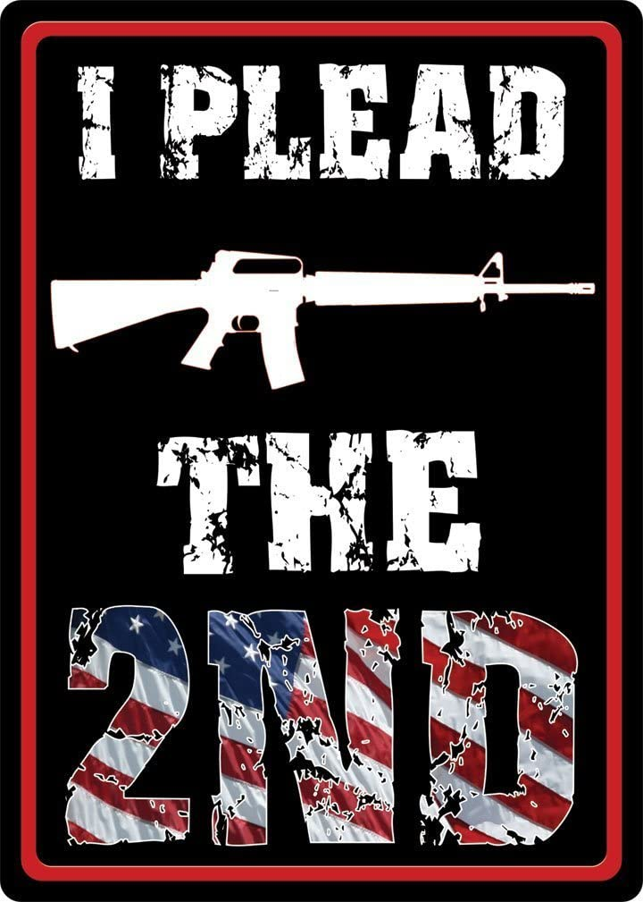 """12/"""" x 17/"""" Tin Metal Sign 2nd Amendment Rather Have A Gun In My Hand Cop on Phone"""