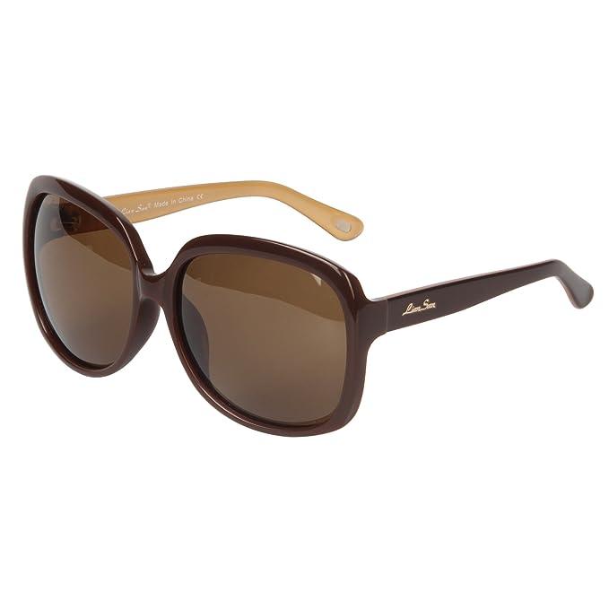 b9137bbb817 LianSan Acetate Oversized Women s Sunglasses Uv400 Protection Polarized  Sunglasses Simple Sunglasses Lsp301H (POLARIZED BROWN)