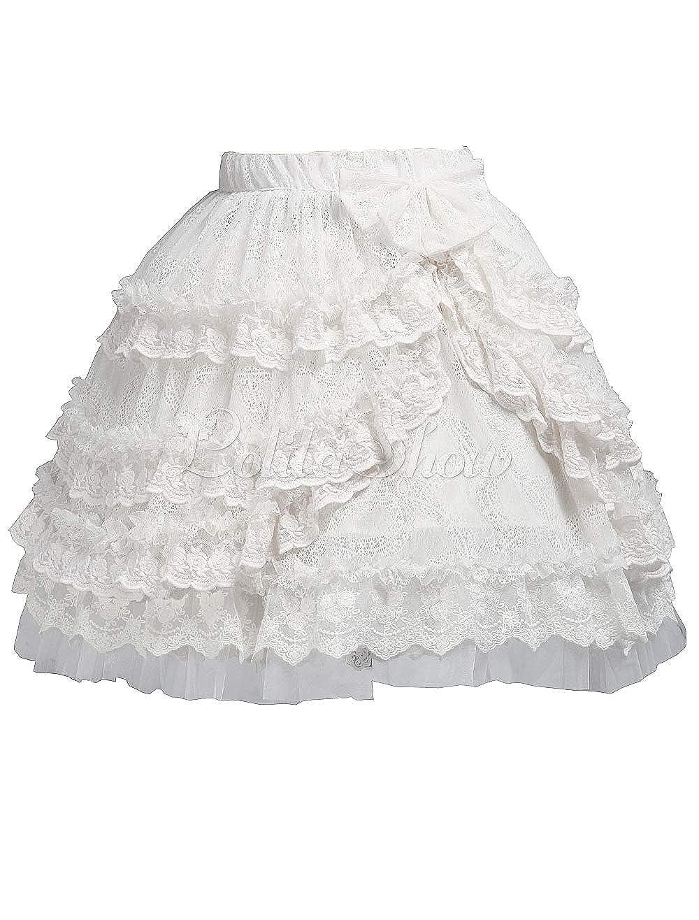 Antaina Blanca Encaje Bowknot Volantes Vintage Victoriana Princesa ...