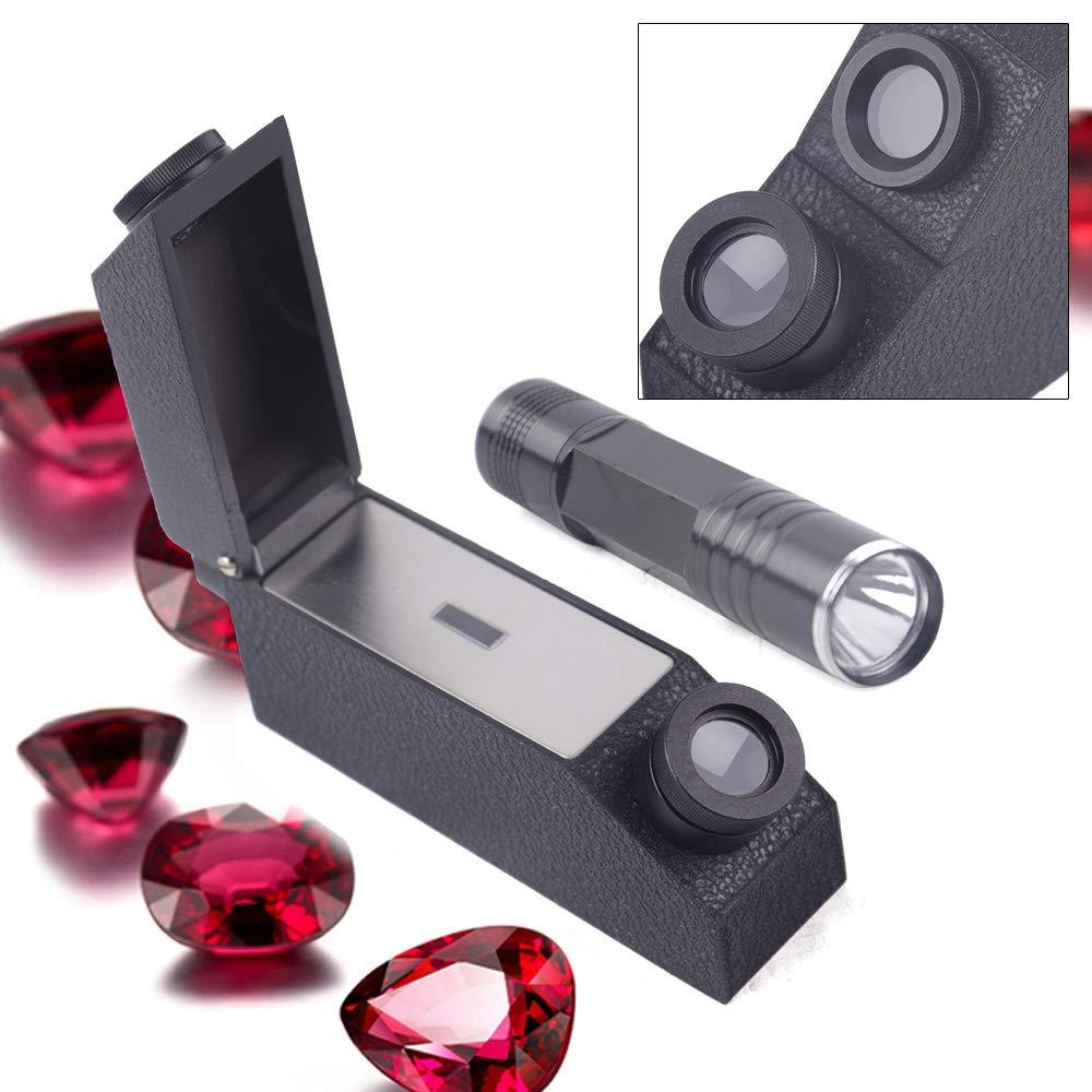 Gem Refractometer 1.30-1.81 RI Range Gemological Gemstone with LED Light Source Tools
