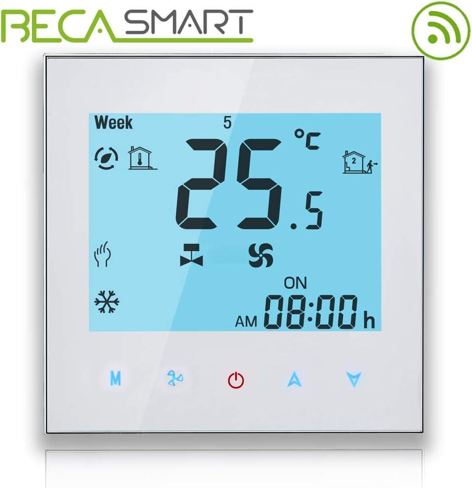 BECA WIFI Termostato Para Calefacción Central De Dos Tubos / Ventilador De Enfriamiento Aire Acondicionado Central Control Inalámbrico Termóstato Programable