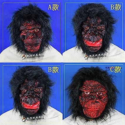 2015 – Halloween mascarada actuaciones Horror Props Funny Funny Grimace máscara máscara de gorila de látex