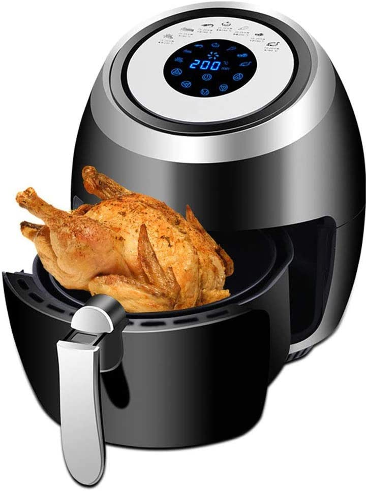 Air Fryer, 3.6 L Hot air Fryer Air Fryer Accessories Adjustable Temperature Control Timer Healthy Low Fat Cooking Air Circulation Technology