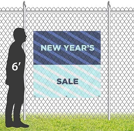 CGSignLab 12x8 Nautical Stripes Wind-Resistant Outdoor Mesh Vinyl Banner Cash Only