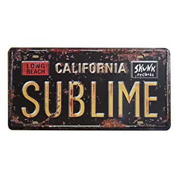 California License Plate History >> Embossed Retro Vintage License Plate Us States Historical Tin Sign Auto Number Tags 6 X 12 15x30cm Ca Sublime