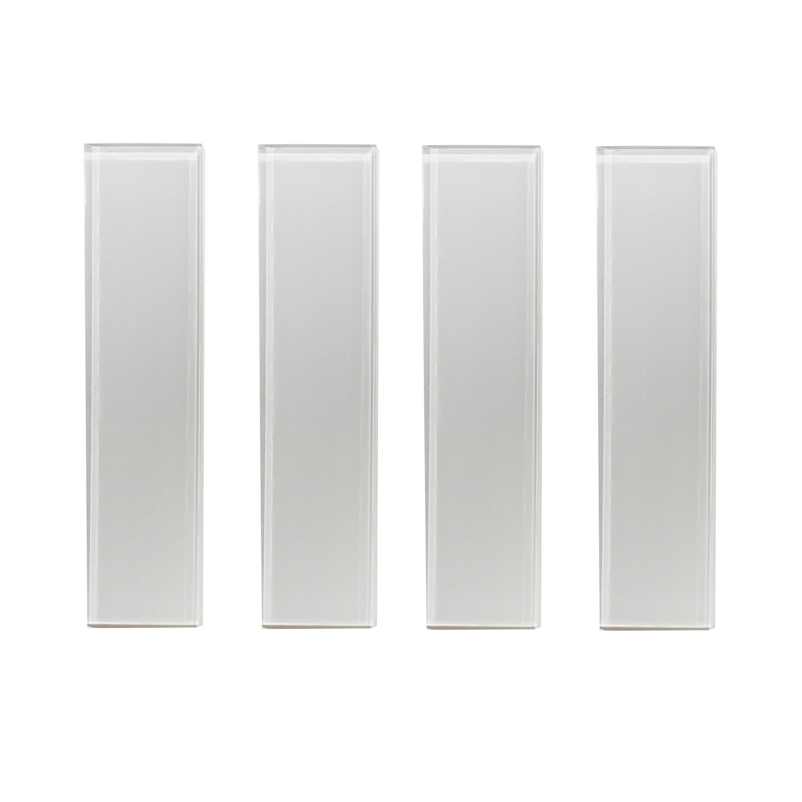Glass Subway Tile,Oracle Collection, GTSU 002 - Silver Grey, 3''X12'', 4 Pieces per SQFT (Box of 5 SQFT)