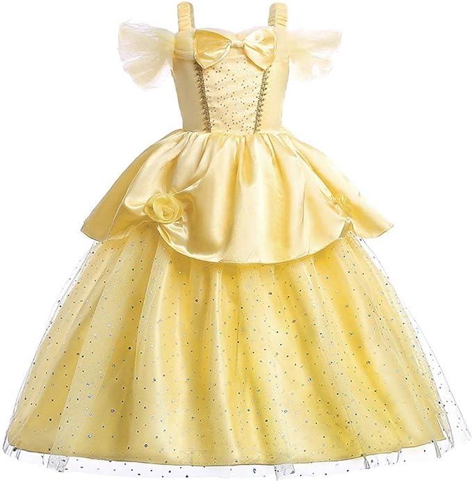Vestido De Princesa Belle Sin Hombros En Capas Para
