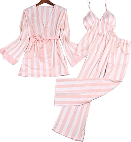 Pijamas De Mujer Pijamas Dulces Japoneses Sling De Seda De ...