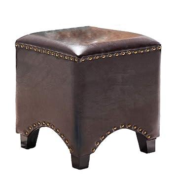 Phenomenal Amazon Com Upholstered Footstool Ottoman Vintage Square Short Links Chair Design For Home Short Linksinfo