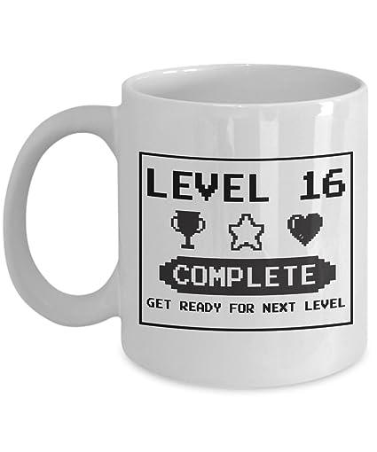 Amazon Happy 16th Birthday Mug Gaming Geek 2001